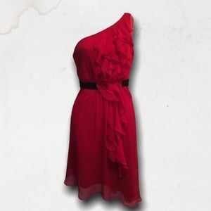 Red One Shoulder Dress « Flamenco» Style